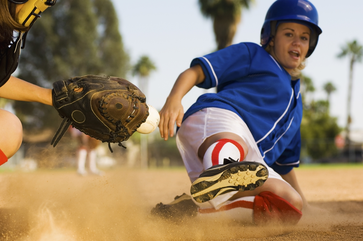 Practicing batting